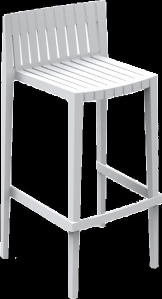 Spritz Bar Chair in White