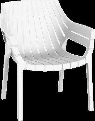 Spritz Dining Arm Chair in White