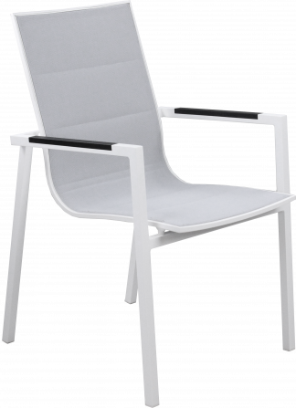 Lisbon Dining Arm Chair in White