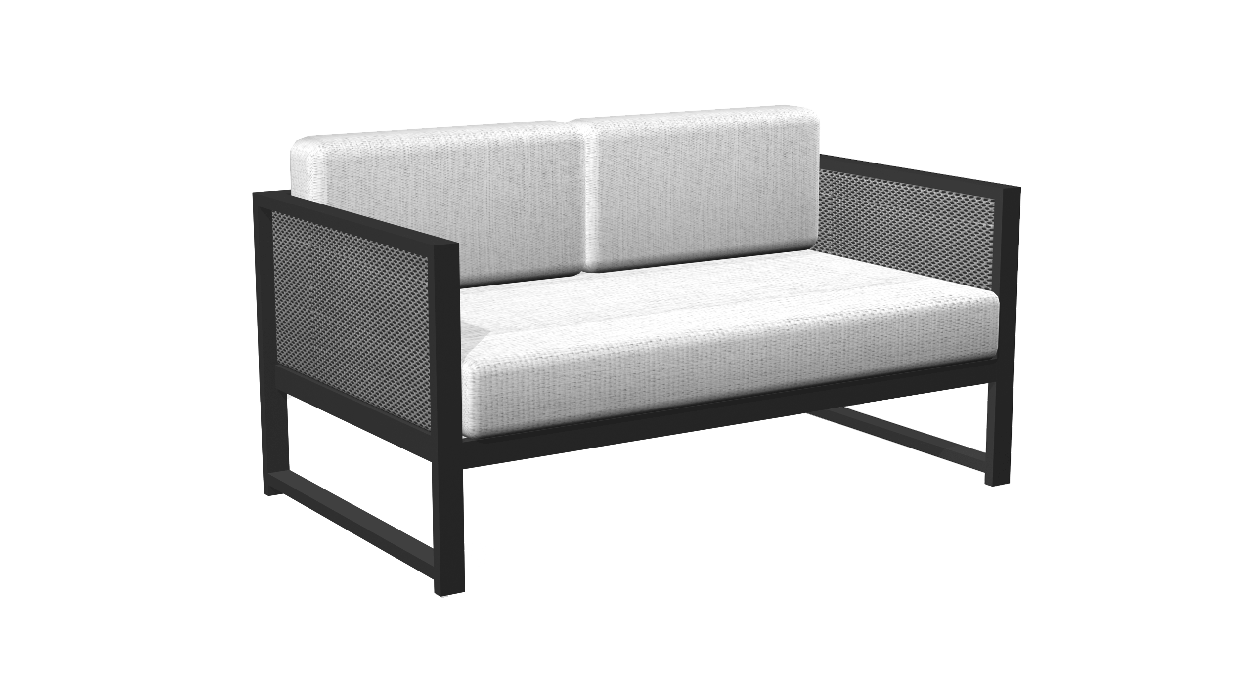 Madrid Loveseat in Black