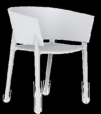VONDOM Africa Dining Arm Chair in White