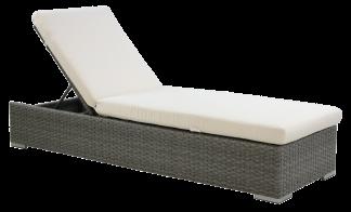 Berkeley Ash Grey Flat Thick Chaise Lounge