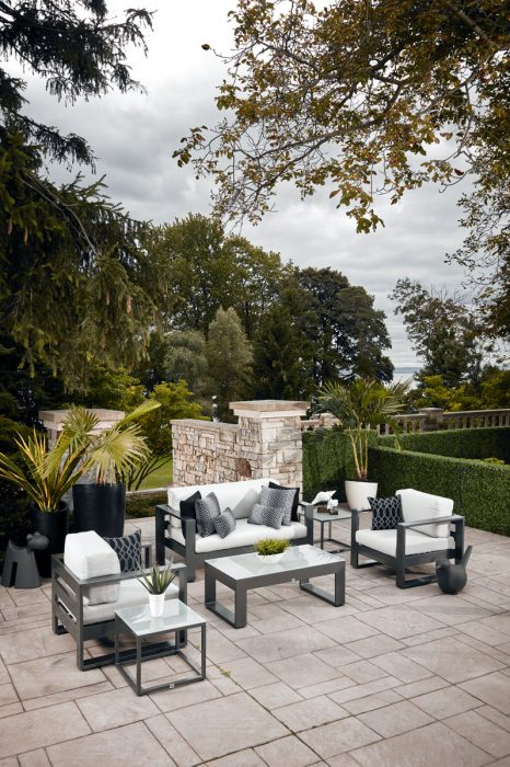 Nevis Deep Seating in Pewter
