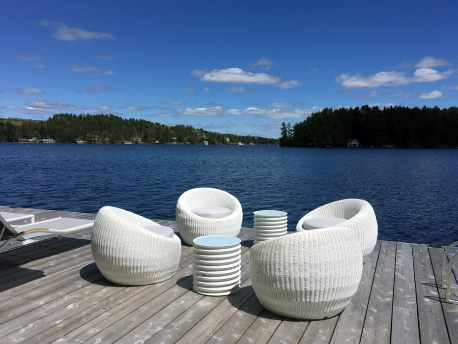 Orb Club Chairs with Harley Side Tables in White