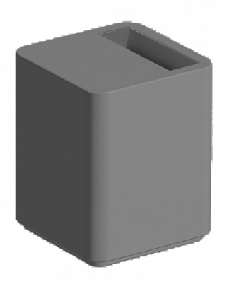 Dado Side Table in Charcoal
