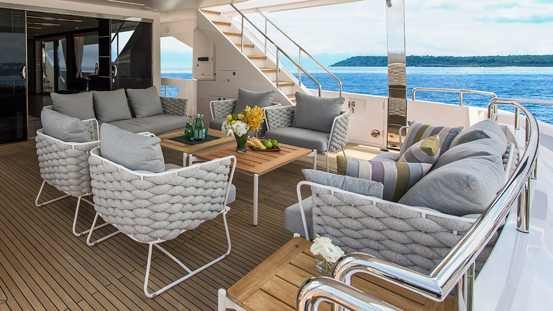 Eole Collection on a yacht