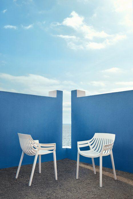 VONDOM Spritz Club Chair and Dining Chair in White