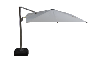 Cloud Cantilever Stainless Steel Frame with a White Hood