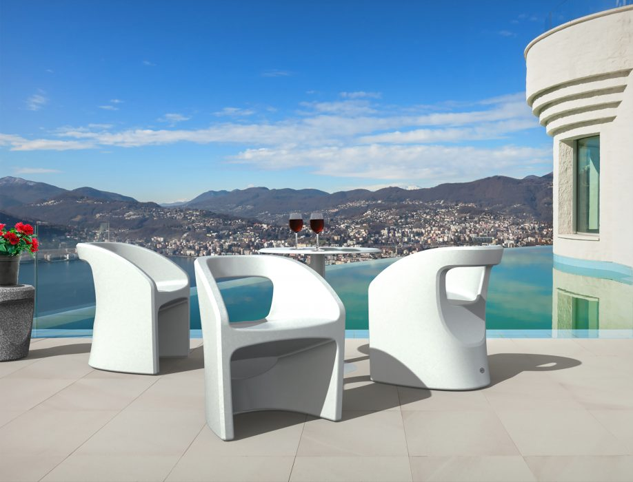 Bistro Dining Arm Chairs in White