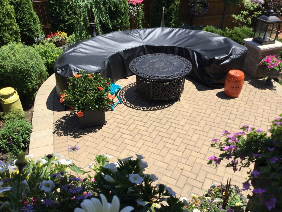 Outdoor Sectional with a Weather Protective Cover