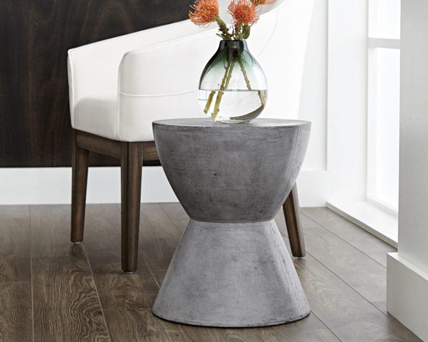 Logan Concrete End Table