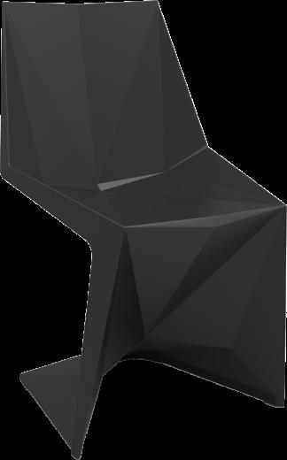 VONDOM Voxel Dining Side Chair in Black