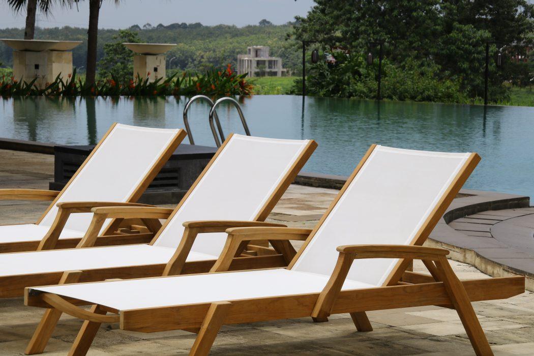 Key Largo Teak Chaise Lounge