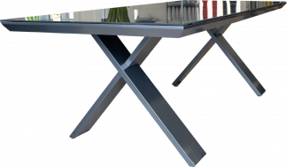Kilo Rectangular Dining Table in Pewter