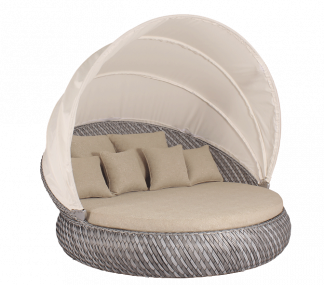 Tidal Round Daybed with Folding Canopy
