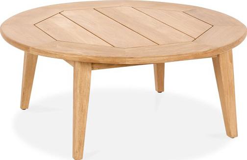 Bayside Round Coffee Table Ard, Round Teak Coffee Table