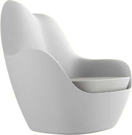 VONDOM Sabinas Club Chair in White