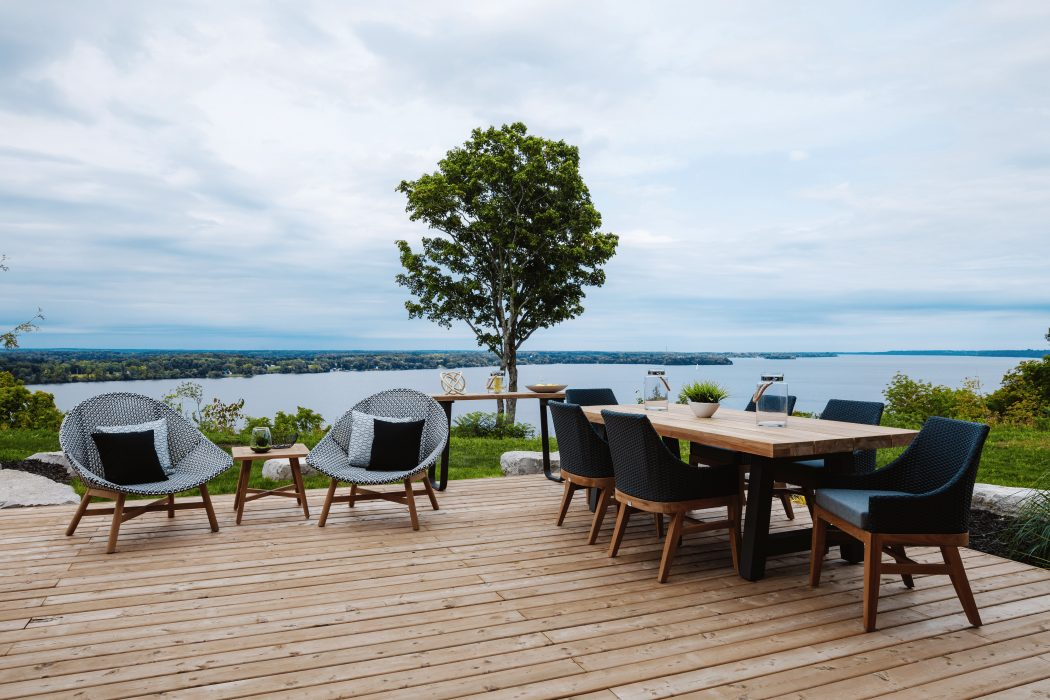 Breeze Club Chairs and Monza Dining Table with Friday Harbour Dining Arm Chairs
