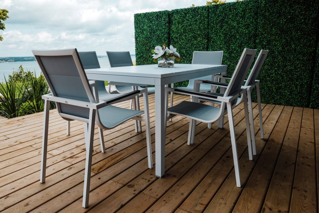 Milano Dining Table with Lisbon Dining Chairs in White