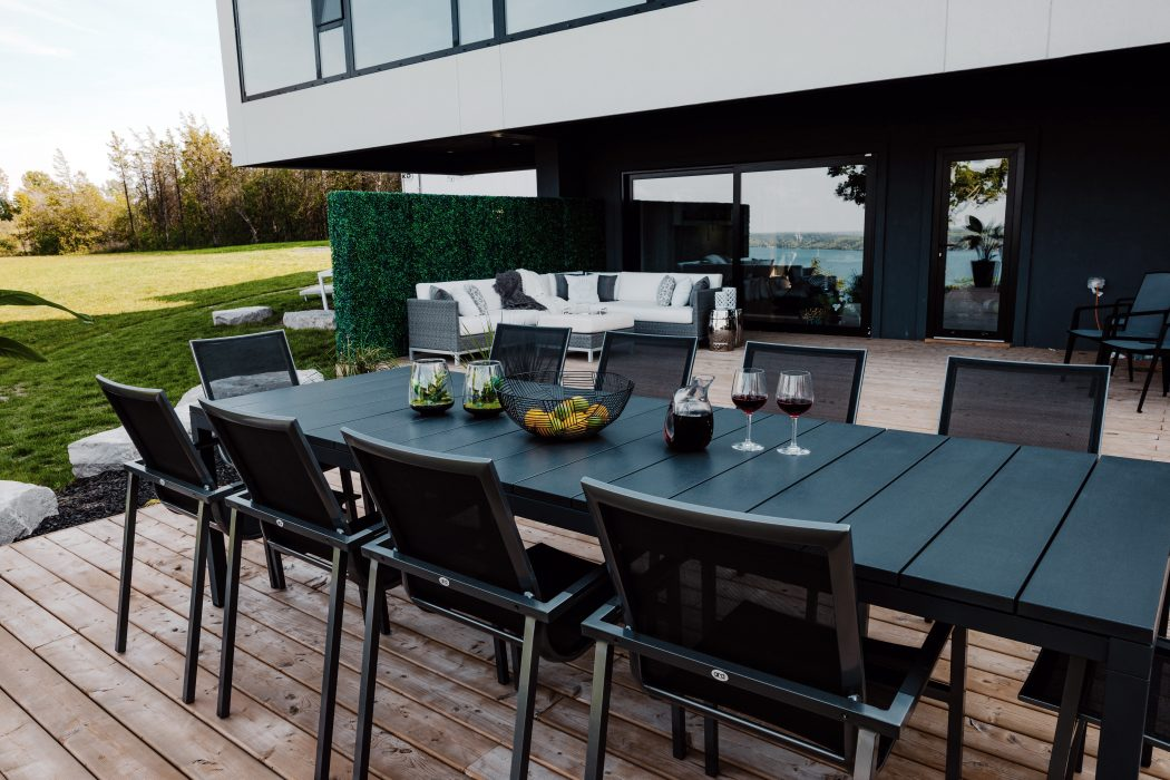 Milano Extension Dining Table with Madrid Dining Arm Chairs