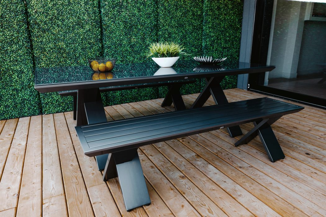 Kilo Rectangle Dining Table and Dining Bench