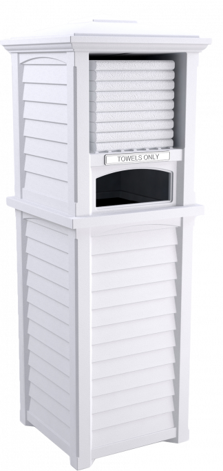 Towel Storage Tower in White