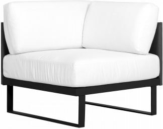 Suave Corner Sectional Asteroid Frame with Black Sling
