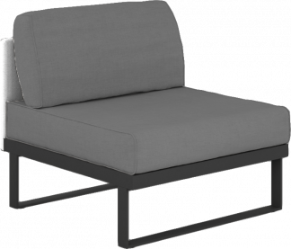 Suave Sectional Armless Slipper Module