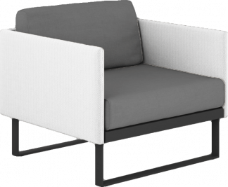 Suave Club Chair Asteroid Frame with White Sling