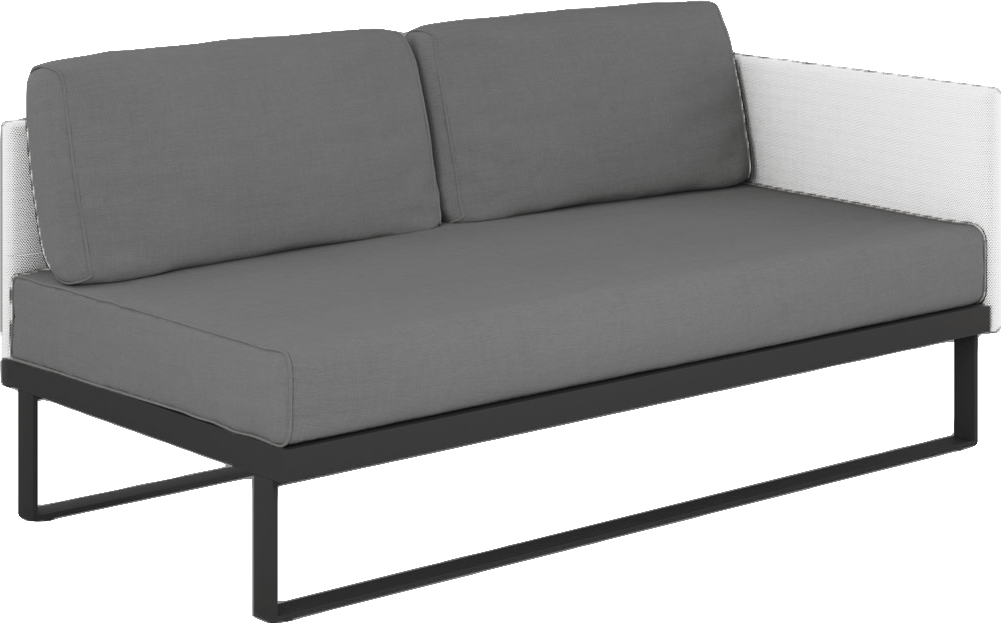 Suave Sectional Left Arm Module Asteroid Frame with White Sling