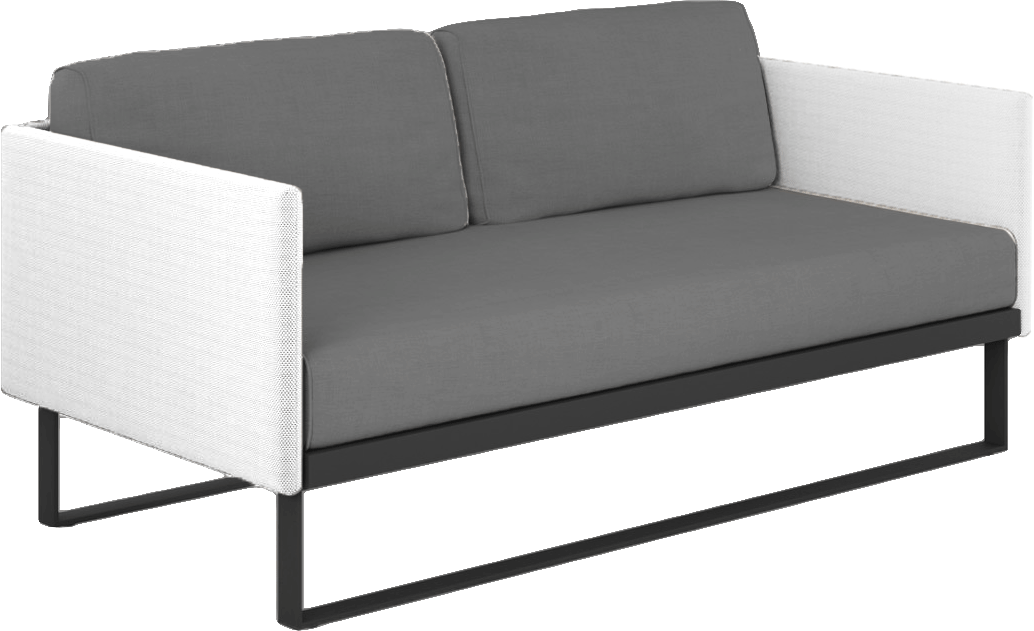 Suave Loveseat Asteroid Frame with White Sling