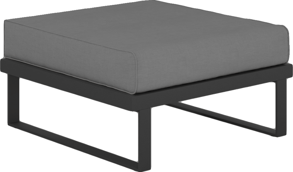 Suave Sectional Ottoman Asteroid Frame