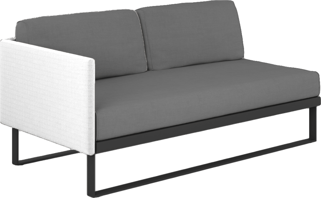 Suave Sectional Right Arm Module Asteroid Frame with White Sling