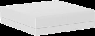 Pixel Ottoman in White