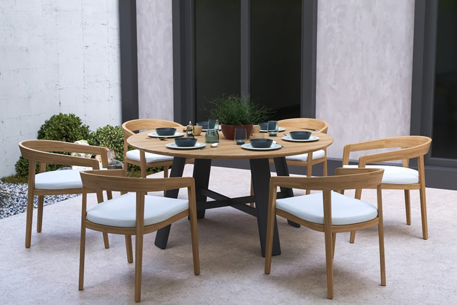 Octa Round Dining Table