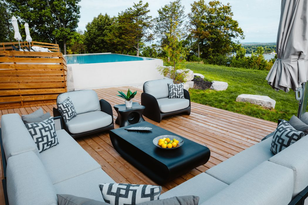 Madrid Sectional with VONDOM Pezzettina Club Chairs and Bum Bum Coffee Table