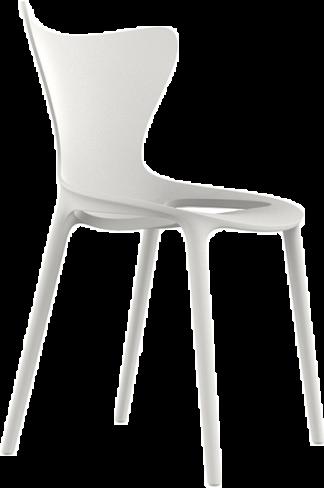 VONDOM Love Dining Side Chair in White