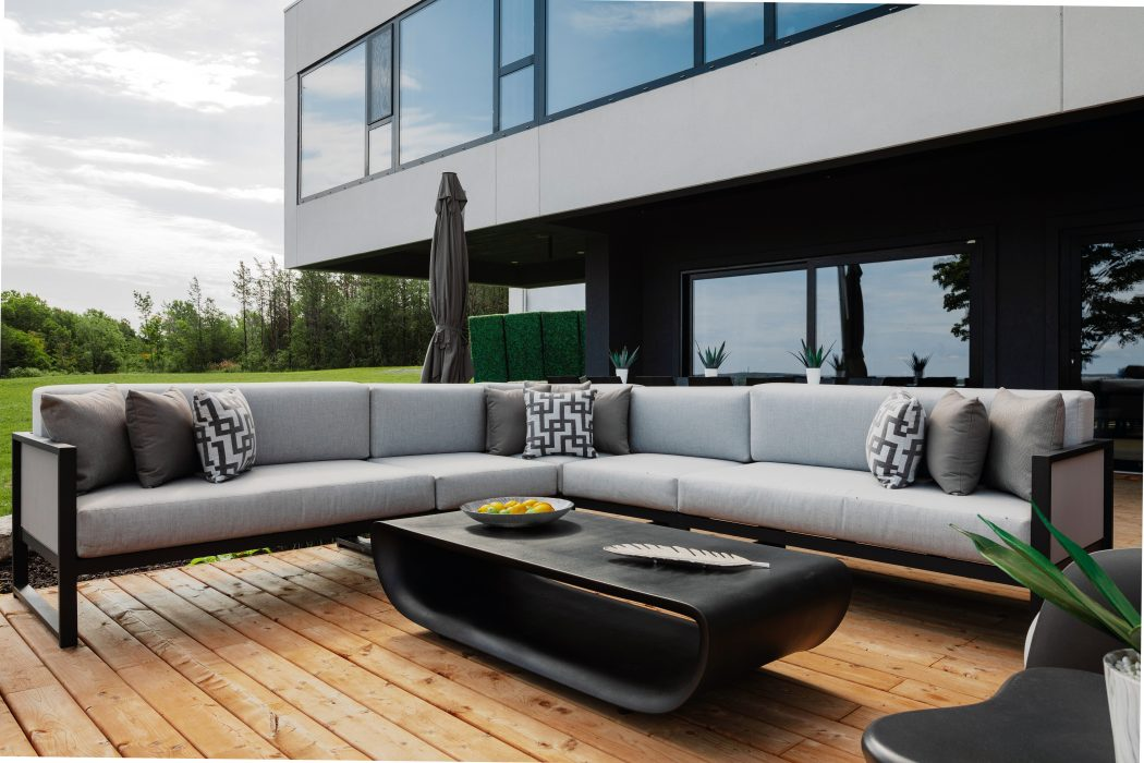 Madrid Sectional and VONDOM Bum Bum Coffee Table