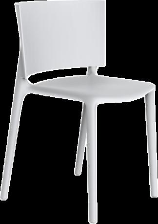 VONDOM Africa Dining Side Chair in White