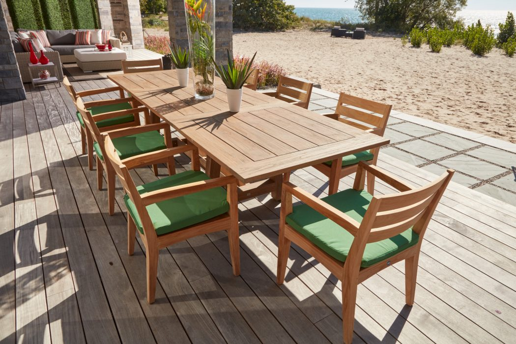 Aspen Dining Arm Chairs with Flavio Extension Dining Table