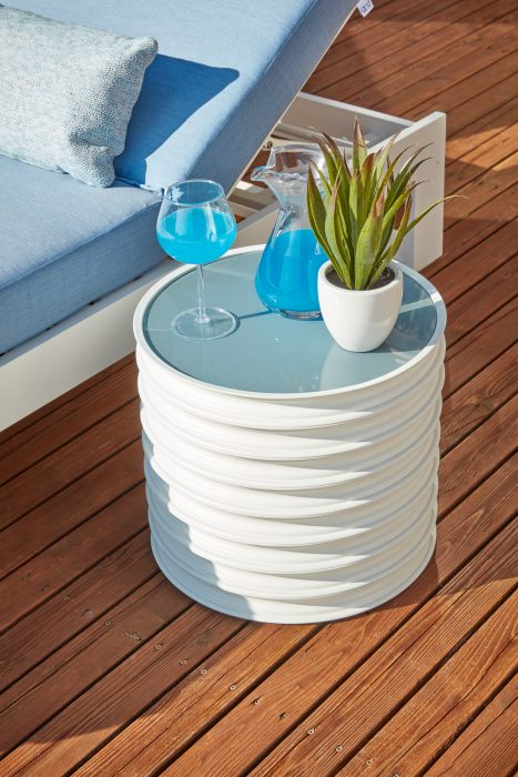Harley Side Table in White