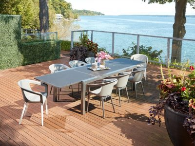 Marlo Extension Dining Table with Oslo Dining Arm Chairs