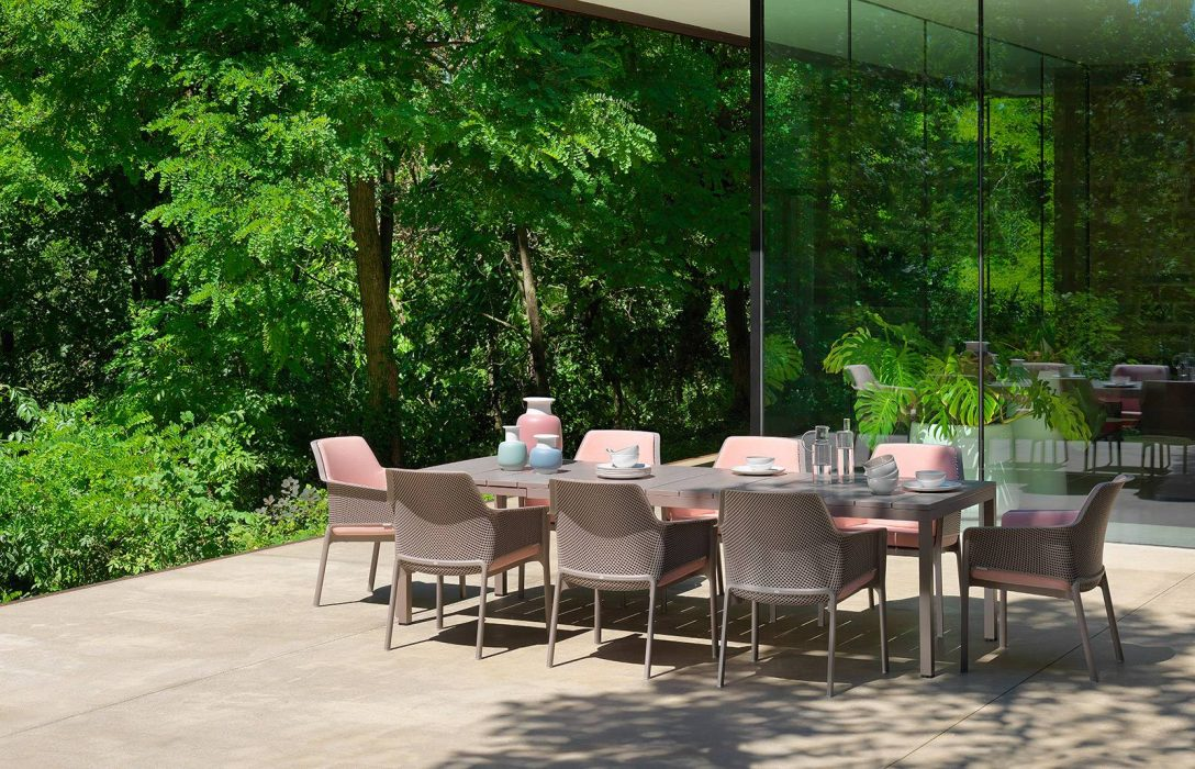 Milano Extension Dining Table with Milano Dining Arm Chairs