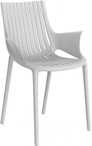VONDOM Ibiza Dining Arm Chair in White