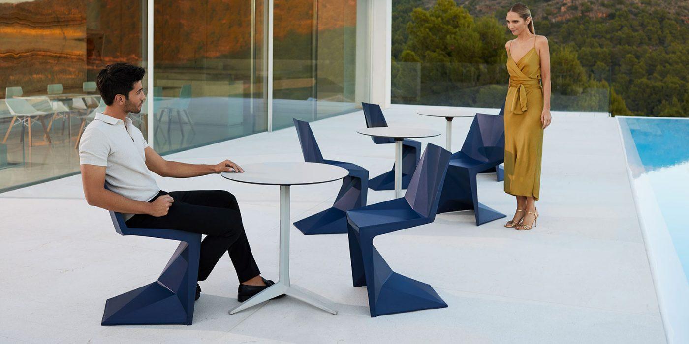 VONDOM Voxel Dining Side Chairs