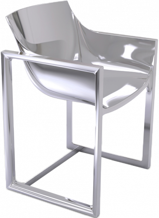 VONDOM Wall Street Dining Arm Chair in Lacquered Steel