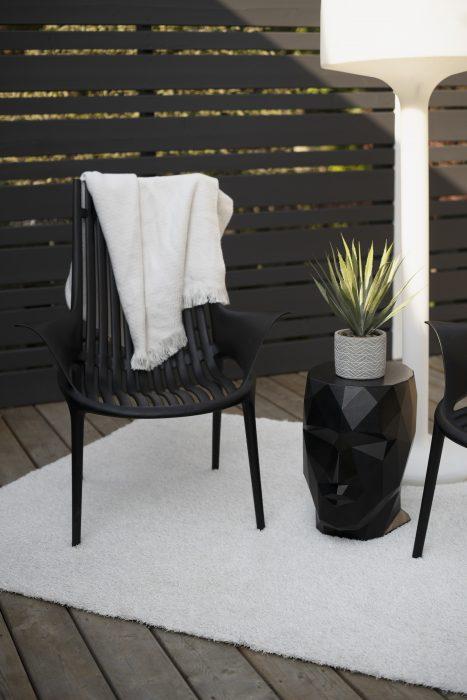 VONDOM Ibiza Club Chair with VONDOM Adan Head Stool