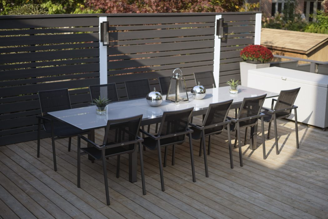 Marlo Extension Dining Table and Madrid Dining Arm Chairs