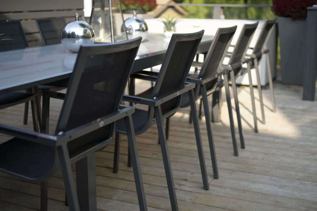 Madrid Dining Arm Chairs in Pewter