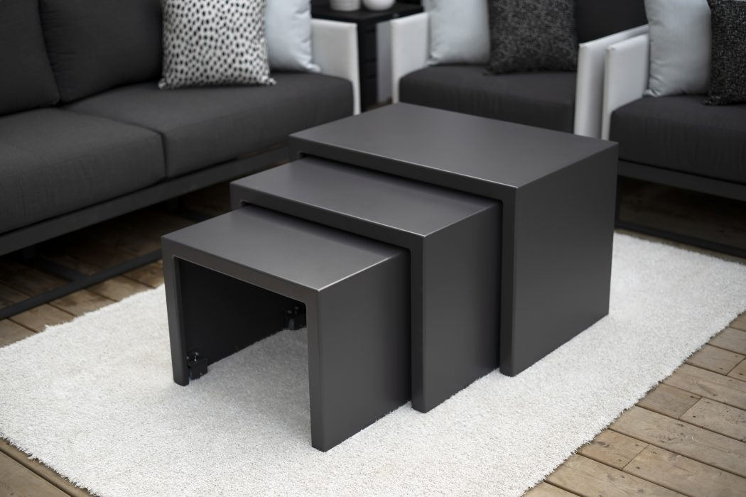 3-Piece Nesting Rolling Table
